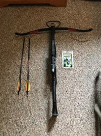 black and brown compound bow Mercer, 16137
