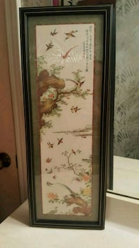 "26""x10"" Asian Art * Birds Jersey Village, 77040"