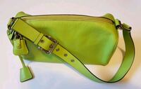 Lime green leather bag