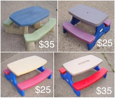 Few picnic table - prices on picture