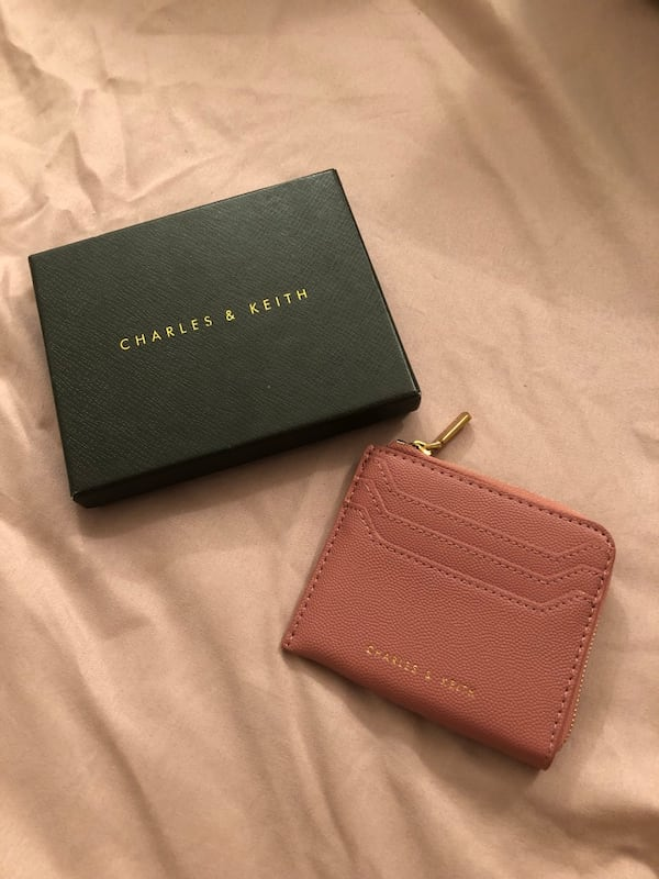 Charles & Keith Rose Casual Zip Pouch Wallet 0