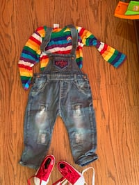 Halloween Child's play costume w/ shoes for 2-4 year old converse size 6c (toddler South San Francisco, 94080