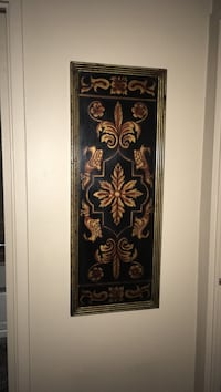 "Wall decor antique gold and black size15""w 39""L"