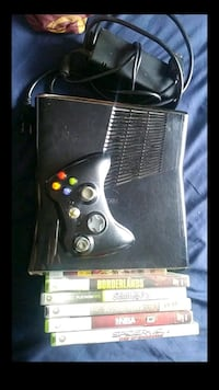 black Xbox 360 game console with game controller  El Paso, 79936