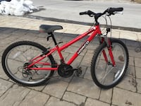 red and black hard tail mountain bike Beaconsfield, H9W