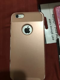 Silver iphone 6 with gold case