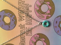 BEST FRIENDS Donut Charm Pendant Necklace Donut worry be happy Scarborough, Toronto, ON, Canada