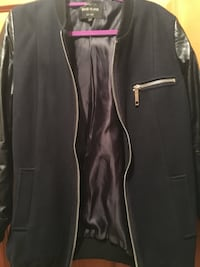 River Island navy blue jacket with soft leather sleeves Luton, LU4 8BA