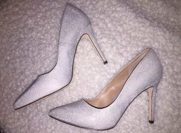 Call it spring silver heels size 8 1