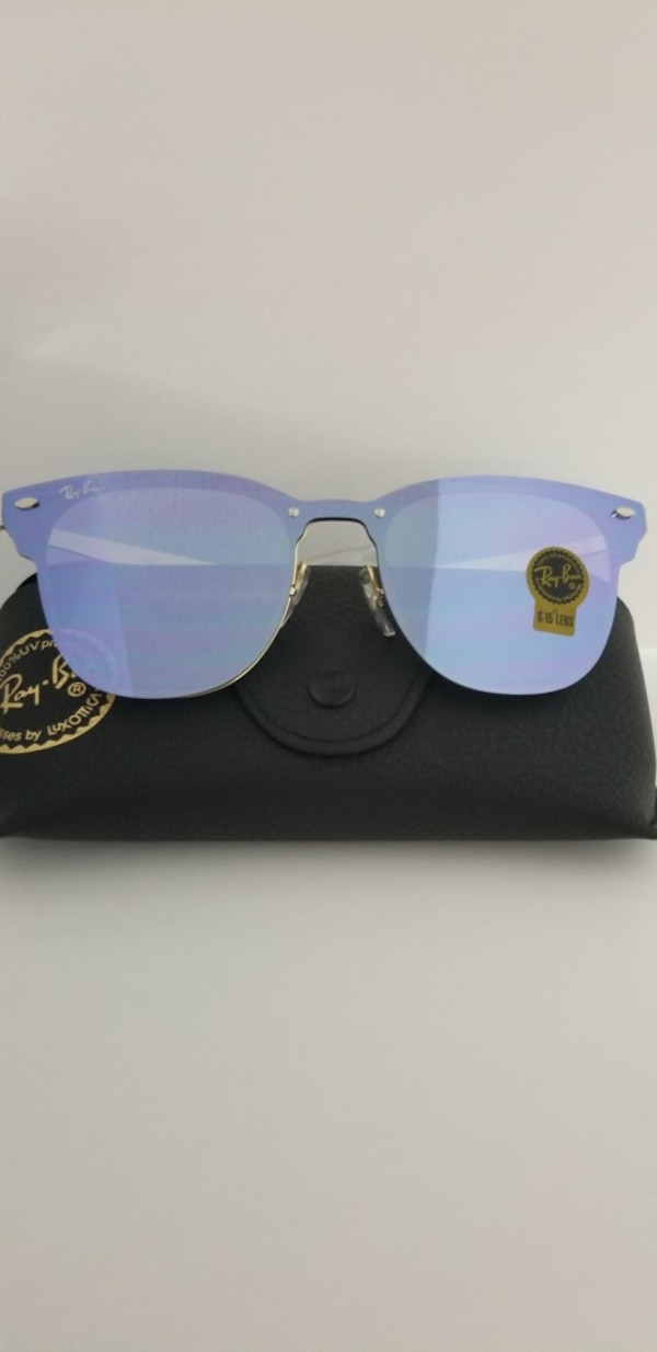 99a0c26cb28 Used blue tint Ray Ban club master sunglasses with black leather case for  sale in Miami