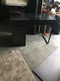 black wooden single pedestal desk Columbus, 43016