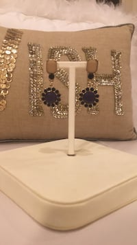 Anthropologie earrings. Navy, ivory and gold  North Vancouver, V7R 3W8