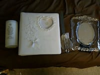 wedding Album ... Glass Picture Frame .. Candle .. Laurel, 20707