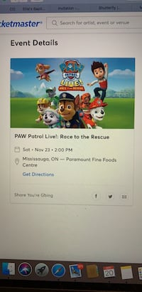Paw Patrol Live! - Race to the Rescue tickets Toronto