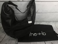 Black Leather She+Lo Hobo Style Hand Bag NWT Never used, and comes with dust cover! Olympia, 98513