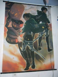 Attack on titan fabric wall scroll  National City, 91950