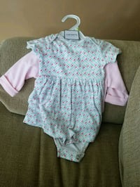 baby's white and pink floral onesie Clear Brook, 22624