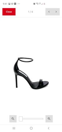 Steve Madden Ladies black sandal heel
