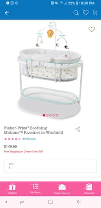 Fished Price Soothing Motions Bassinet in Windmill Castaic, 91384