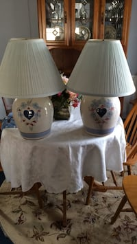 Pair of lamps - $15 each or pair for $25. Coventry, 02816