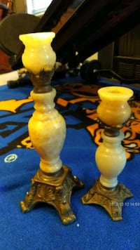 .Marble candle holder..old!..13x17 and 10x13.antiq Wake County, 27592