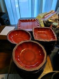 Red Stoneware Plates and Bowls Portland, 97233
