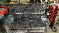 grey and red floral loveseat 801 km