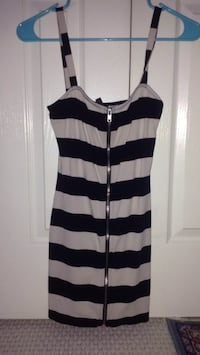white and black striped spaghetti strap dress Germantown, 20874