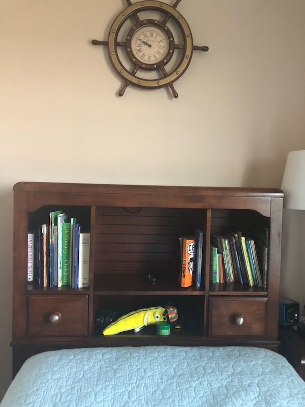 Twin wood headboard