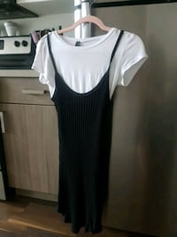 women's white and black sleeveless dress Kamloops, V2E