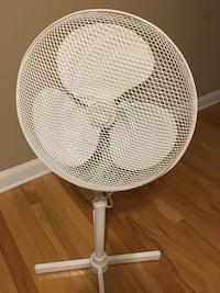 Super clean and quiet fan.  White and can be dismantled and reassembled quickly for storage off season New Haven, 06519