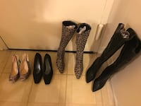 4 pairs brand new ladies shoes boots $40 each  size 9 click on my profile picture on this page to check out my other listings message me if you interested pick up in Gaithersburg Maryland 20877 all sales final Gaithersburg, 20877
