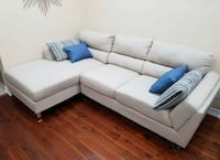 FREE DELIVERY : BRAND NEW LIGHT TAPUE SECTIONAL COUCH - PERFECT COND Markham, L3R 9W3