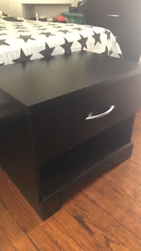 black wooden 2-drawer chest Miami Beach, 33139