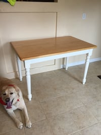 Kitchen Table white & Natural Oak Top 4'x 2 1/2' Hudson