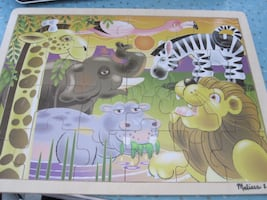Melissa and Doug 24 Pieces African Plains Wooden Jigsaw Puzzle
