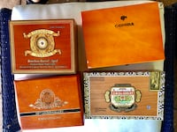 4 Wooden Cigar Boxes