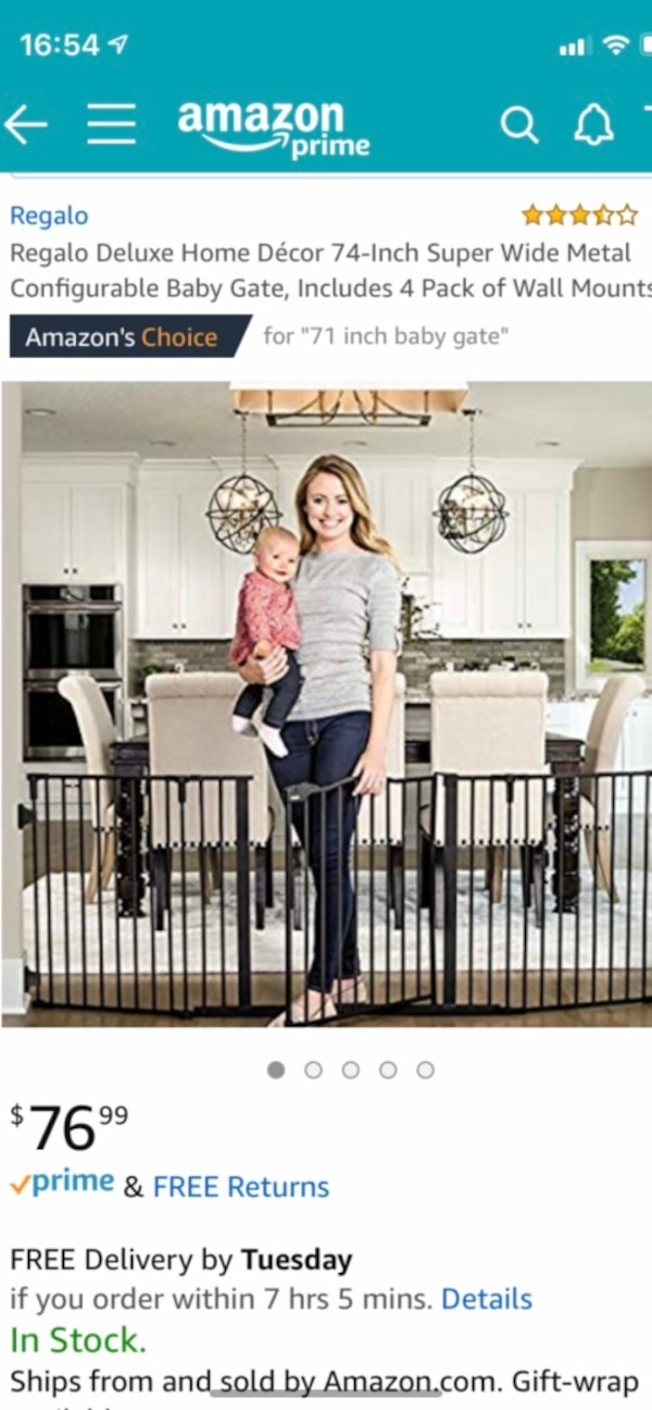 74 inch baby/pet gate