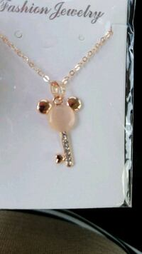 New mickey mouse rose gold key necklace Woodruff, 29388