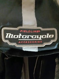 black and white motorcycle bookbag  Tampa