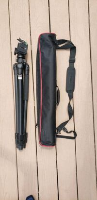 Tripod with carrying case.