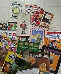 Many cook books some 4 kids