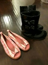 pair of black-and-white duck boots Carrollton, 75006