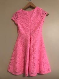 Pink Lace Dress Youth Medium Victoria