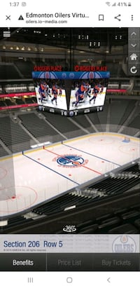 Oilers Tickets at Cost Pick from List