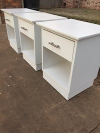 Beautiful Refinished Set of 3 Nightstands / End Tables