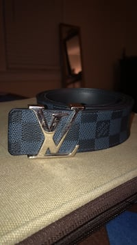 authentic louis vuitton  belt in black