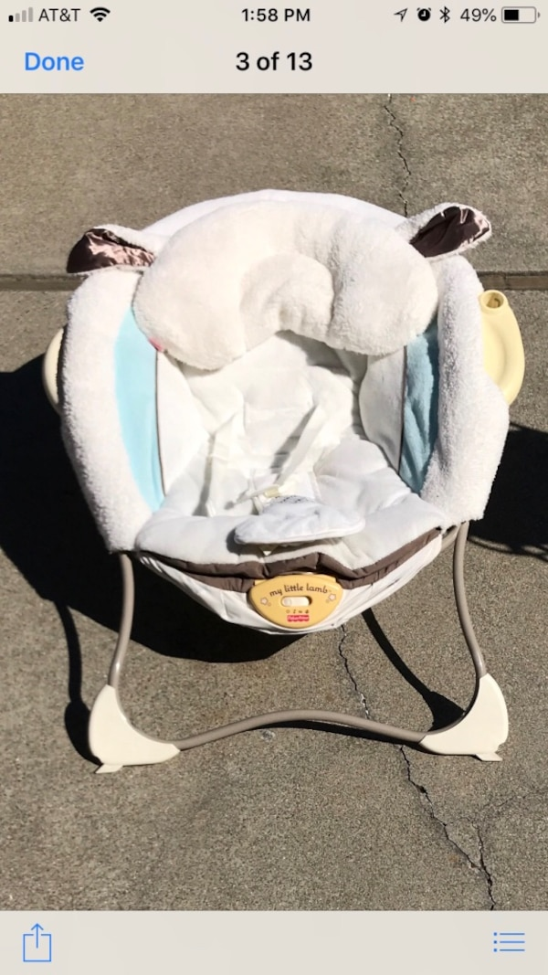 White And Black Fisher Price Cradle N Swing