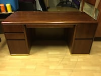 "Office desk solid wood office desk scratch on top can be stained/fixed measures: 66""l x 30""w x 29""h"