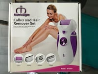 New White and purple callus and hair remover set Toronto, M6S 5B5